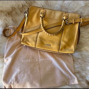 Rebecca Minkoff yellow suede shoulder bag